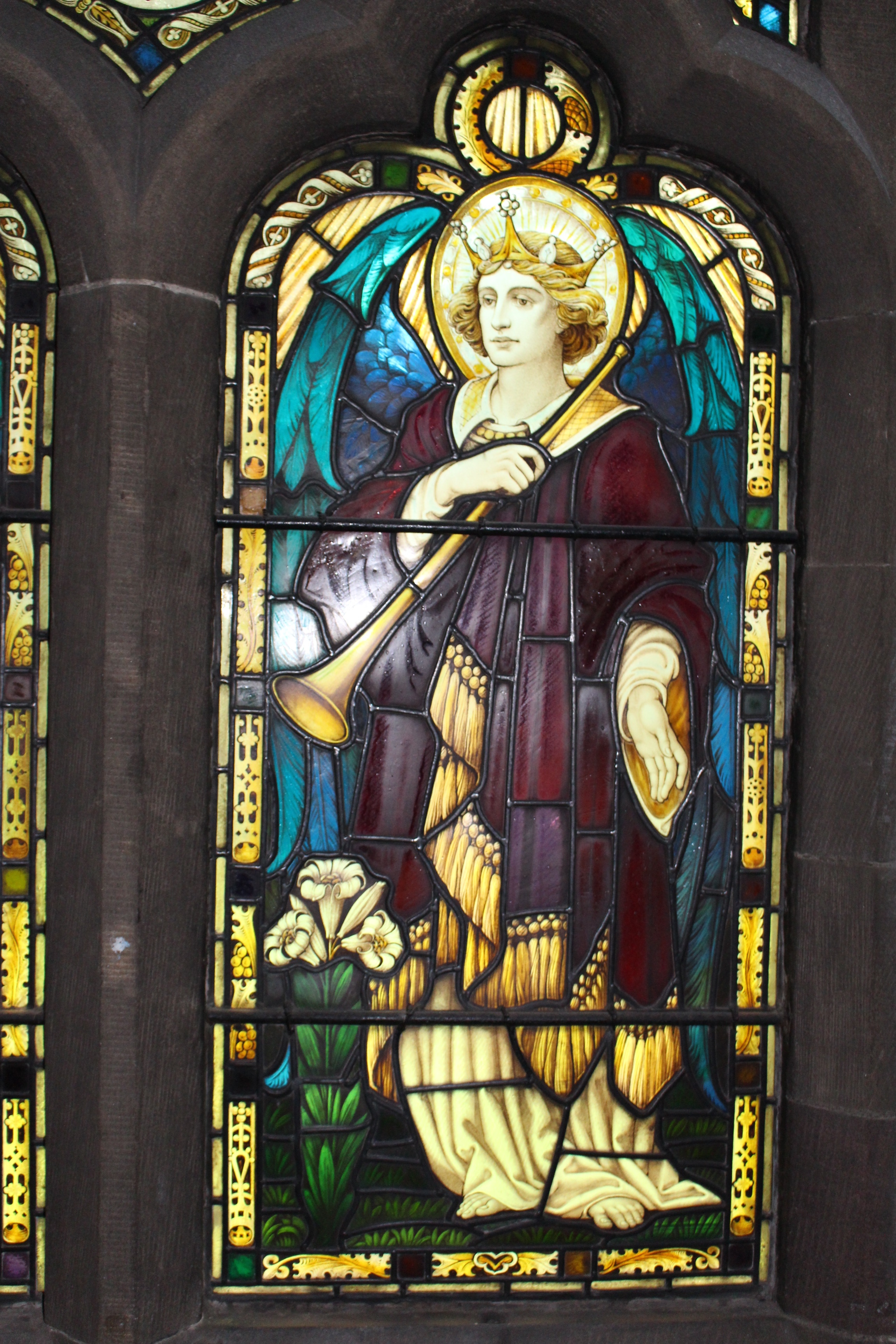 Attributed to Shrigley and Hunt . Memorial Window