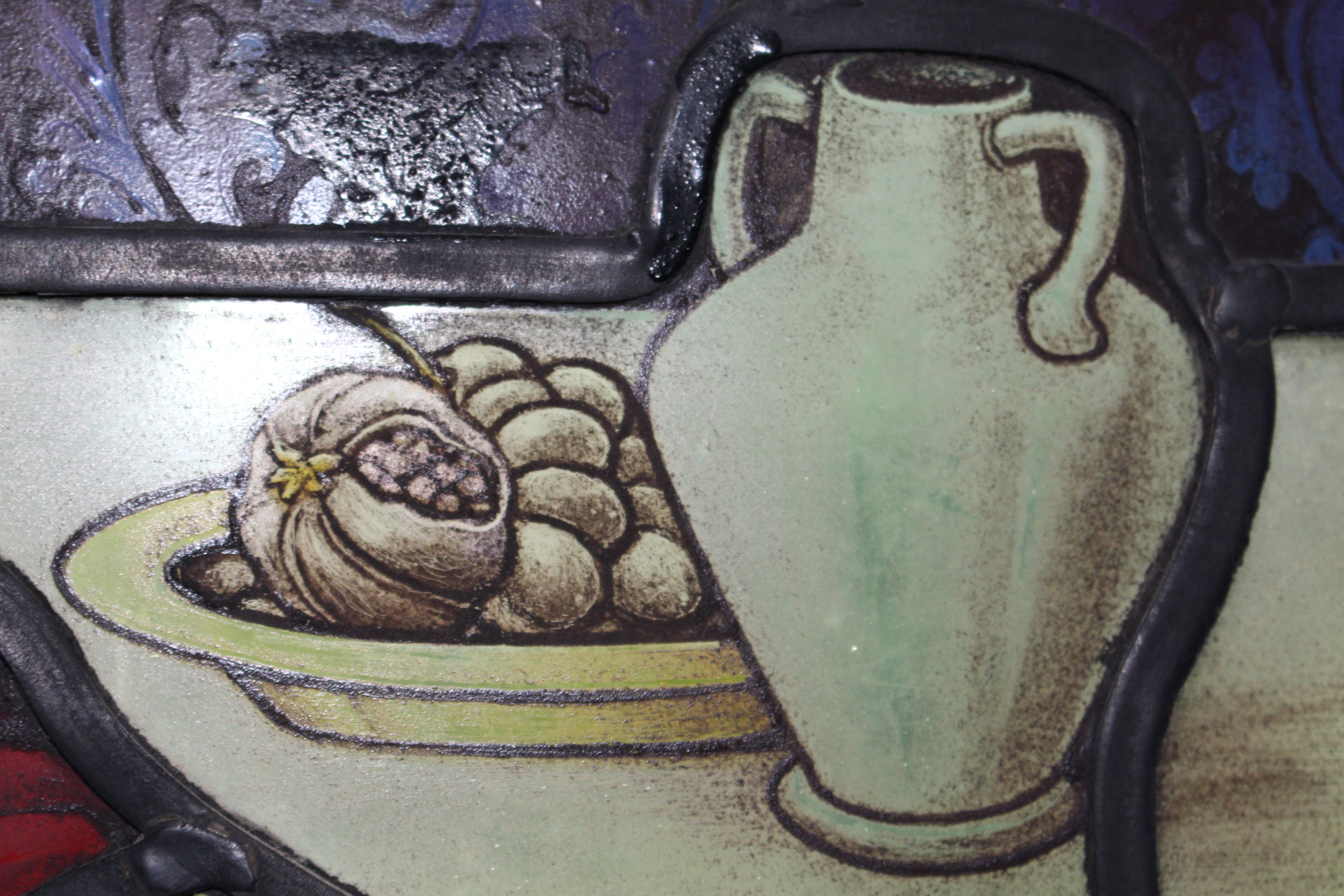 food and drink - detail in window - Shrigley and Hunt